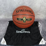 Balón Spalding NBA Gold Allround y bolsa malla Spalding. Pack exclusivo Basketspirit