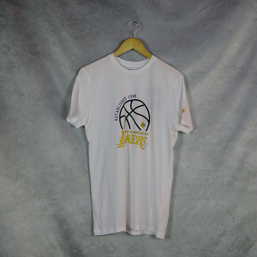 Camiseta  Los Angeles Lakers NBA. Manga corta, blanco. Graphic. New Era