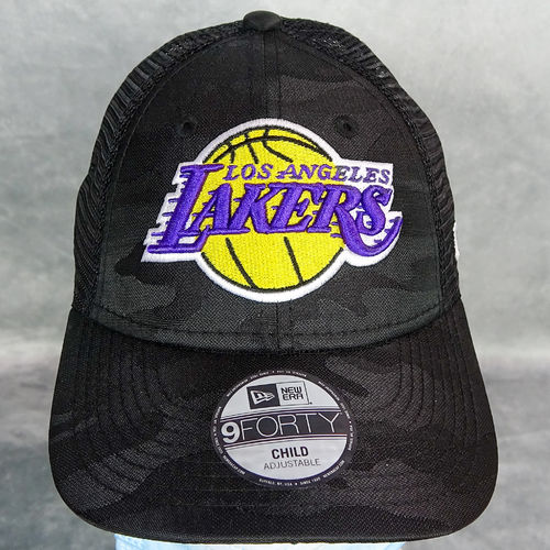 Gorra Los Angeles Lakers niño. Seasonal. The League Kids Camo Black 9Forty Cap. New Era