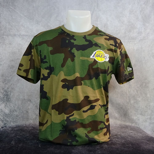 Camiseta  Los Angeles Lakers Camo NBA. Manga corta, camuflaje. New Era
