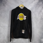 Sudadera con capucha, Los Angeles Lakers. Negra. NBA Woodmark Worn