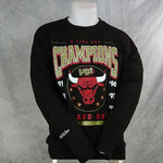 Sudadera, Chicago Bulls 6 Time Crew. Negra.