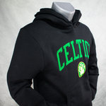 Sudadera con capucha, Boston Celtics. Negra. NBA Arch Hoddy. Bordada
