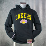 Sudadera con capucha, Los Angeles Lakers. Negra. NBA Arch Hoddy. Bordada.